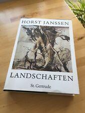 Horst Janssen, Landschaften, Hardcover, 1989, St. Gertrude, Hrg. Dierk Lemcke