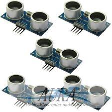 5 x Sensor de gama ultrasónico HC-SR04 buscador Arduino Pi robot educación UK A201