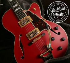 D'Angelico Deluxe 175 Matte Cherry Red Limited Edition & Hard Case
