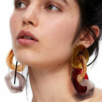 Jewelry Drop Acrylic Pendant Earrings Geometric Colours Dangle Women Fashion