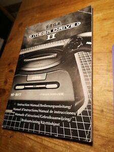 Original Sega Mega Drive Game Manual SEGA MEGA DRIVE II 2 CONSOLE Manual ONLY