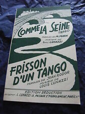 Partition Comme la seine Frisson d'un tango de Louis Lunazzi