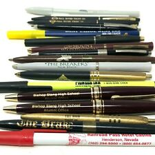 Lot of hotel and other advertising pens