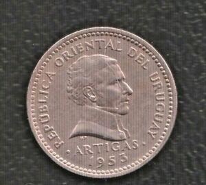 URUGUAY 10 CENTIMOS 1953