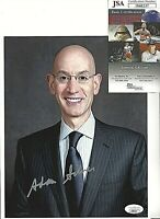 ADAM SILVER SIGNED/AUTOGRAPH 8X10 PHOTO JSA CERTIFIED NBA COMMISSIONER