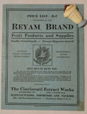 1922 Reyam Brand Fruit Products & Supplies Booklet R-2, Cincinnati Extract Works