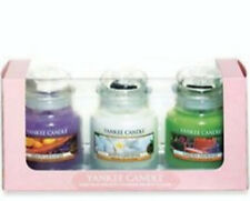 Yankee Candle- Floral Spring Gift Set- 3 x Small Glass Jar Candles- BNIB