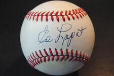 Ed Lopat Signed Baseball New York Yankees, Jsa Tuff One!