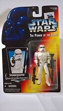 STAR WARS POTF Stormtrooper w/ Blaster Rifle & Cannon Kenner 1995 Orange MOC