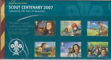 GB 2007 SCOUT CENTENARY PRESENTATION  PACK No . 400 SG 2758-2763 MINT STAMP SET