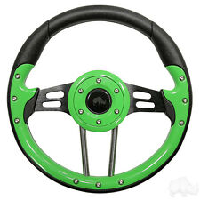GOLF CART STEERING WHEEL LIME /BLACK W/ADAPTER EZGO Combo(R)