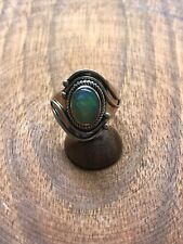 925 Solid Sterling Silver ethiopian opal Ring Size 7 Spirits