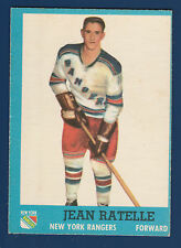 JEAN RATELLE  62-63 TOPPS 1962-63 NO 58 EX++  5144
