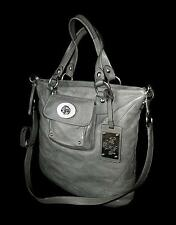 COACH Ltd Ed GRAY KIRA QUILTED SLIM LEATHER SHOULDER TOTE BAG PURSE SATCHEL RARE