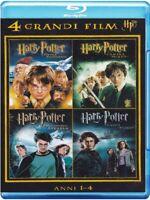 Harry Potter - Anni 1-4 - Cofanetto Con 4 Blu Ray - Nuovo Sigillato