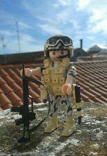 Playmobil soldado custom militar Español policia ejercito guardia civil soldier
