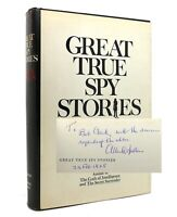 Allen Dulles GREAT TRUE SPY STORIES Signed 1st 1st Edition 1st Printing
