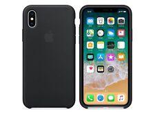 Original Apple iPhone X (Apple iPhone 10. Generation) Silikon Case in Schwarz