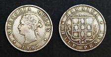 Jamaica Half Penny 1893. British Empire. Victoria. Métal blanche