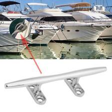 "6"" Stainless Steel Base Boat Dock Deck Rope Cleat Marine Bollard Yacht BT"