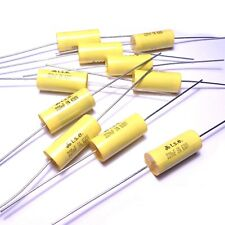 10x Capacitor 0.22uF 220nF 5% 630V Polypropylene Axial Valve Metal Film UK