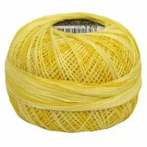 Lizbeth Egyptian Cotton Crochet Thread Size 20 Color 170 Pineapple parfait