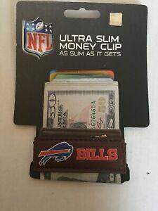 Buffalo Bills NFL Football Team Leather Card Holder Money Clip Wallet