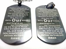 50 religious lord's prayer Bible  pendant necklace men Jewelry dog tag wholesale