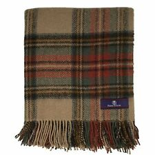 Prince of Scots Highland Tweed Pure New Wool Throw ~ Antique Dress Stewart ~