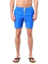 "Mr Swim NY Solid Blue 7.5"" swim trunk shorts  NWT mr-301-1 Small"