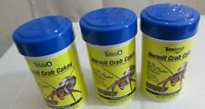 Lot (3) Tetra Hermit Crab Cakes Food Pellets Land Hermit Fiddle Caribbean Crabs