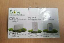 Evolve Lpm-15 120 Vac 15-Amp Plug-In Dimmer Modules, New in Box