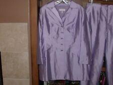 NWOT Escada Lavender 2 Piece Pant Suit Size 44/14   75% Silk