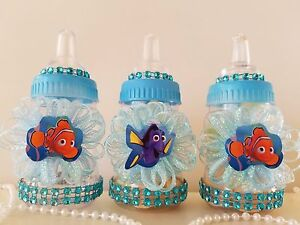 Finding Dory Blue 12 Fillable Bottles Baby Shower Game Under The Sea Favors