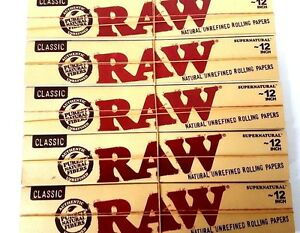 RAW SUPERNATURAL 12 INCH ROLLING PAPERS - Classic Unrefined Large Huge Foot Long