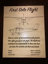 """Cessna 172 and 182 First Solo Flight 8""""x10"""" Plaque"""