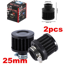 2x Air Filters 25mm Car Cold Air Intake Filter Turbo Vent Crankcase Breather