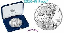 2016-W PROOF AMERICAN SILVER EAGLE 30th ANNIVERSARY ONE OUNCE COIN with BOX&COA