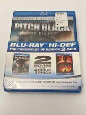 Vin Diesel 2 Disc Blu-Ray New Pitch Black Chronicles Of Riddick - Free ship Box!