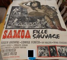 Samoa Fille Sauvage French Movie Poster Vintage Grande 120x160cm Affiche de Film