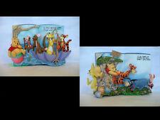 Winnie Pooh STORY BOOK SET [2] Matching LE Disney / Bradford Exch Figurine + COA