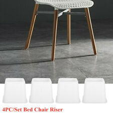 4PCS Chair / Bed Riser Lifter Furniture Leg Support Base Extra Raiser Stand Feet