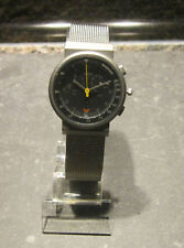 Braun Chronograph Armbanduhr AW70 3806 Design Lubs Edition Edelstahl Metallband
