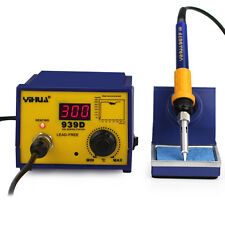 75W Digital Soldering Iron Station Lead Free ESD Welding Tool Kit 939D with 3Tip