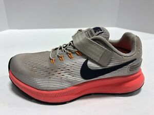 Nike Zoom Pegasus 34 Flyease GS Youth Size 1 Extra Wide (4E) Grey/Pink Girls