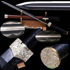 Highest Han Sword Hand Forged Multiple-refined pattern steel blade sharp #T116