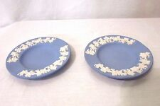 Wedgwood Jasperware Blue Ashtray With Grapevine Design
