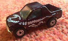 1991 Matchbox Int'l Ltd Maroon Isuzu Amigo 1:57 Toy Car With Dinosaur