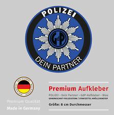 POLIZEI-GdP-Aufkleber - Strafzettel-Knöllchenstop - 7-Jahre UV-Beständigkeit