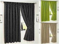 Kitchen Pencil Pleat Curtains Dot Polka Spotted Dotted Bathroom Inc.Tiebacks New